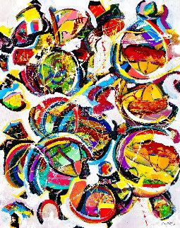 Fun Times 2020 46x58 Huge Original Painting - Giora Angres