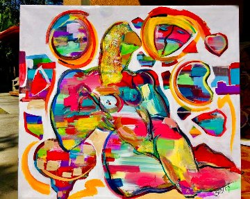 Untitled Painting 2020 48x58 Original Painting - Giora Angres