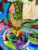 Modigliani Rides the Waves 2020 46x48 Super Huge Original Painting by Giora Angres - 3