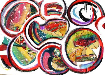Untitled Painting 2020 36x48 Huge  Original Painting - Giora Angres