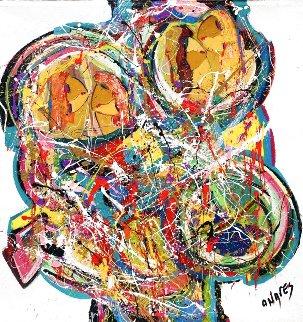 A Fabulous Four Days 2020 48x48 Huge Original Painting - Giora Angres