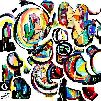 My Entourage 2020 48x48 Huge Original Painting - Giora Angres