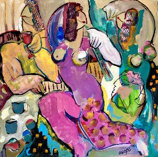 My Heart Belongs to You 2018 48x48 Super Huge Original Painting - Giora Angres