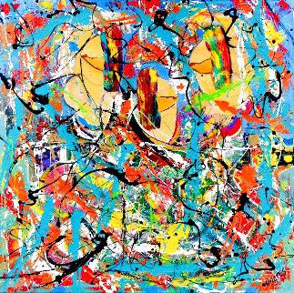 Too Far Away 2020 48x48  Huge Original Painting - Giora Angres