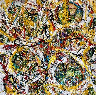 Gold Coast 2018 46x46 Super Huge Original Painting - Giora Angres