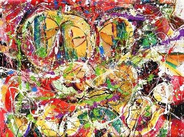 Tres Filles 2020 36x48 Huge Original Painting - Giora Angres