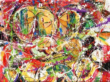 Untitled Painting 2020 36x48 Original Painting - Giora Angres
