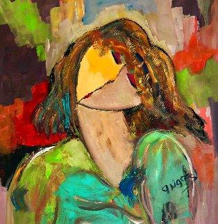 Lady Gaga 2021 28x28 Original Painting - Giora Angres