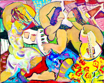 Untitled Painting 2018 48x58 Original Painting - Giora Angres