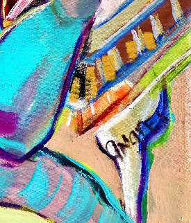Untitled Abstract Painting 2018 48x58 Original Painting - Giora Angres