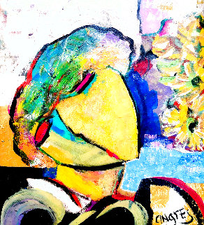 Untitled Painting 2018 22x20 Original Painting - Giora Angres