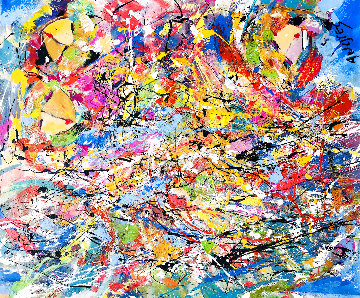 Scattered 2019 36x48 Super Huge  Original Painting - Giora Angres