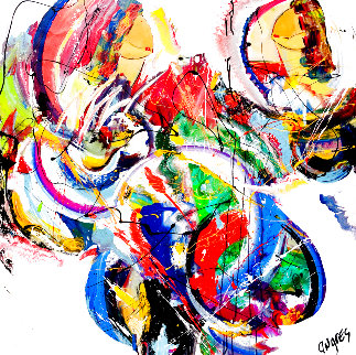 Untitled Abstract Painting 2019 48x48 Original Painting - Giora Angres