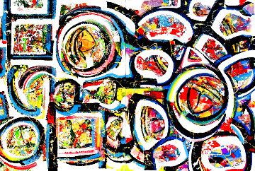 Untitled Abstract Painting 2020 48x72 Super Huge  Original Painting - Giora Angres