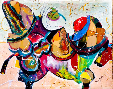 A Fashionable Women 2020 32x40 Huge Original Painting - Giora Angres