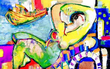 Untitled 2014 36x48 Original Painting - Giora Angres