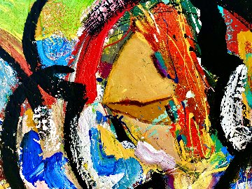 Untitled Painting 2020 48x48 Original Painting - Giora Angres