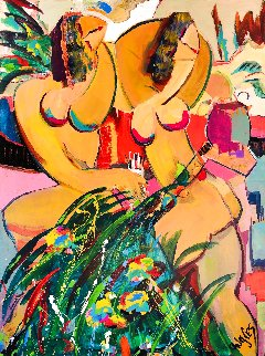 Tropical Splendor 2020 48x36 Huge Original Painting - Giora Angres