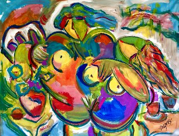 Secret Passion 2016 36x48 Super Huge Original Painting - Giora Angres