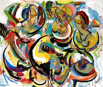 Sunset Cruise 2020 45x52 Huge Original Painting - Giora Angres