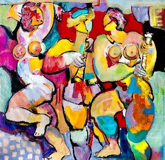 Carnival Magic 2014 48x50 Huge Original Painting - Giora Angres