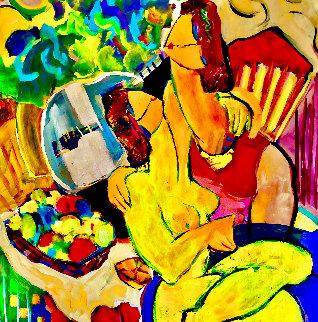 Fruit Basket 2019 40x36 Super  Huge Original Painting - Giora Angres