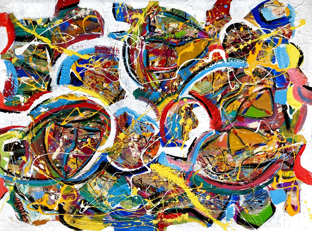 Inspiration 2021 48x36 Super Huge Original Painting by Giora Angres