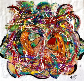 Forever More 2020 48x48 Original Painting - Giora Angres