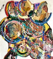 Blue Hair 2019 36x32 Huge Original Painting by Giora Angres - 0