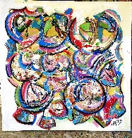 Looking At You 2020 48x48 Super Huge Original Painting by Giora Angres - 1