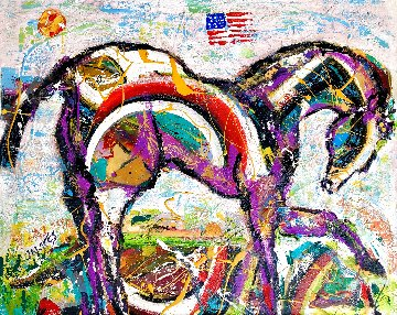 Land of Hope and Dreams 2020 30x36 Original Painting - Giora Angres