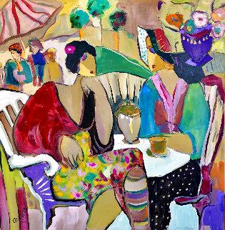 Nostalgia 2002 47x47 Huge Original Painting - Giora Angres