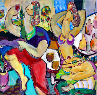 Fruit of the Vine 2016 46x46  Huge Original Painting - Giora Angres