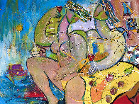 Ocean Beach 2018 34x46 Super Huge Original Painting by Giora Angres - 0