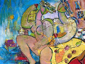 Ocean Beach 2018 34x46 Huge Original Painting - Giora Angres