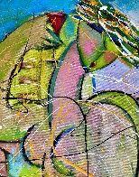 Ocean Beach 2018 34x46 Super Huge Original Painting by Giora Angres - 2