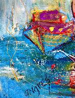 Ocean Beach 2018 34x46 Super Huge Original Painting by Giora Angres - 4