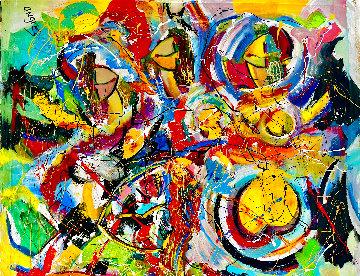Magic Dance 2020 46x50 Super Huge  Original Painting - Giora Angres