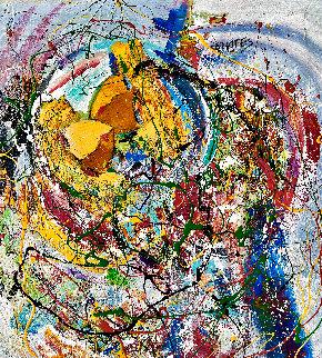 Whirlwind Romance 2016 26x26 Original Painting - Giora Angres