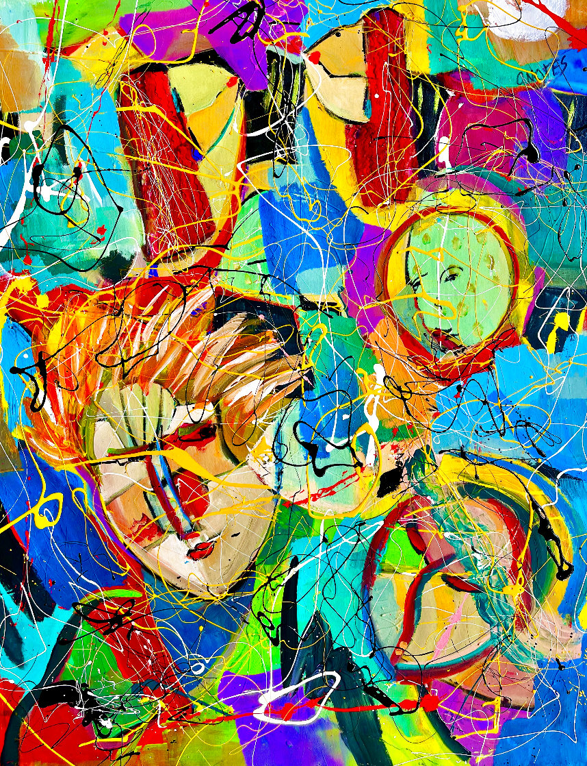 Beethoven Bangs 2020 46x34 Original Painting by Giora Angres