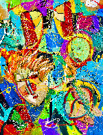 Beethoven Bangs 2020 46x34 Original Painting by Giora Angres - 0