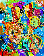 Beethoven Bangs 2020 46x34 Original Painting by Giora Angres - 1