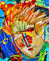 Beethoven Bangs 2020 46x34 Original Painting by Giora Angres - 2
