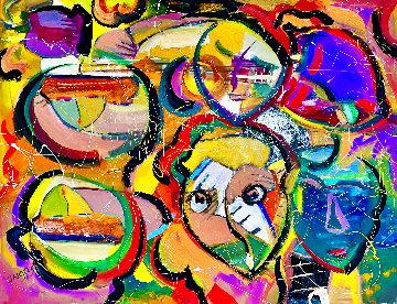 Krazee 2021 36x48 Huge Original Painting - Giora Angres
