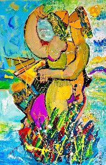 Island Paradise 2013 48x30 Huge Original Painting - Giora Angres