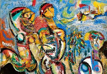 Mardi Gras, Rio 2018 34x44 Huge Original Painting - Giora Angres