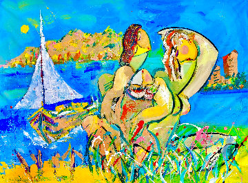 Amanecer 2002 36x48 Huge Original Painting - Giora Angres