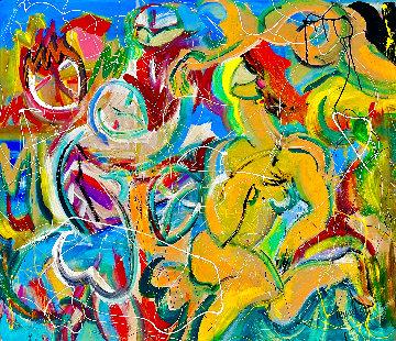 Beginning of Summer 2021 48x54 Super Huge  Original Painting - Giora Angres