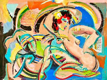 Bella Roma 2016 36x48 Huge Original Painting - Giora Angres