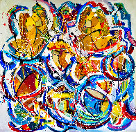 Love is in the Air 2020 48x48  Original Painting by Giora Angres - 1